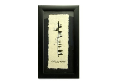 Slainte Health Irish Wall Decor Ogham Symbol Art Made in Ireland ()