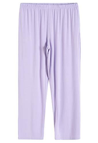 Latuza Women's Pleated Shirt and Pants Pajamas Set