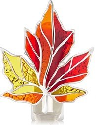 Bath and Body Works Stained Glass Leaf Nightlight Wallflowers Fragrance Plug.
