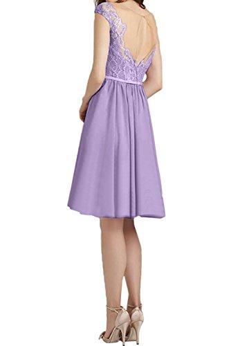 Ivydressing Abendkleider Spitze Kurz Festlich Brautjungfernkleider Damen Ballkleid Himmelblau rx1Bqr