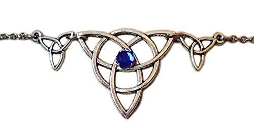 Moon Maiden Jewelry Celtic Triple Triquetra Trinity Headpiece Dark Blue by Moon Maiden Jewelry