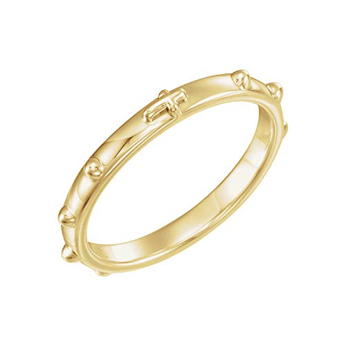 Yellow Gold Rosary Ring - 14K Yellow Gold Rosary Ring Size 6