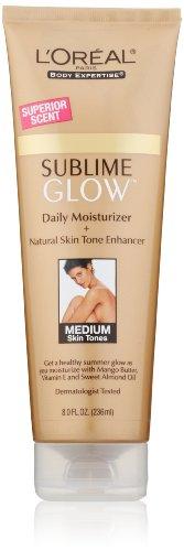 L'Oreal Paris Sublime Glow Daily тела увлажняющий + естественный тон кожи Enhancer, средний, 8,0 унции