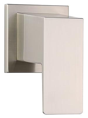 Danze D560962BNT Mid-Town Single Handle Trim Kit for 3/4-Inch Volume Control/Shut Off Valve or 3-Port/4-Port Shower Diverter, Valve Not Included, Brushed Nickel