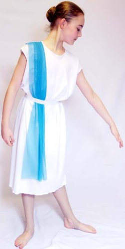 World Book day ANCIENT EGYPTIAN/ROME/GREEK Slave Girl Costume with Blue Shoulder Drape  sc 1 st  Amazon UK & World Book day ANCIENT EGYPTIAN/ROME/GREEK Slave Girl Costume with ...