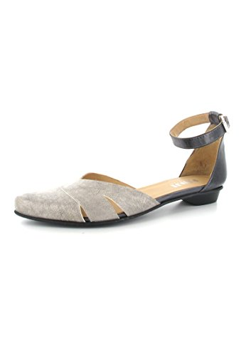 FIDJI-ballerines femme-gris-chaussures en matelas grande taille