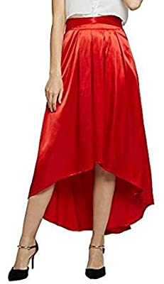 Urban CoCo Women's Elegant Hi-lo Long Skirt Flare Pleated Skirt