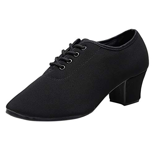 (Xinantime Women Dance Jazz Sneaker Woman Practice Shoes Modern Zoom Jazz Ballroom Dance Single Shoes Black)