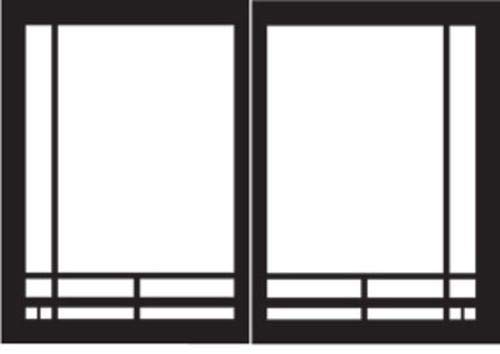 Empire Comfort Systems Mission Rectangle Door Set for Tahoe Deluxe Fireplaces - Matte Black ()