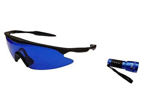 IDS Home POSMA SGG-060C Golf Ball Finder Glasses Torch Ultraviolet UV Flashlight Gift Set by IDS Home