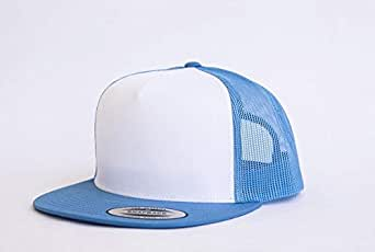 Adult Snapback White - Carolina Blue Cap