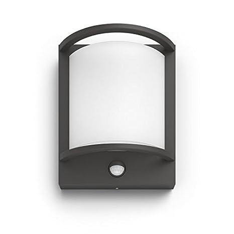 Philips MyGarden Samondra Aplique LED con Sensor de Movimiento para Iluminación Exterior Integrado, 12 W