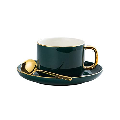 KLYHCHN Ceramic Small Pull Flower Coffee Cup Saucers Suit Concise Household Ceramics Coffee Mug Teacup Juice and Milk…