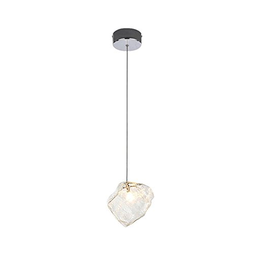 Ice Cube Pendant Lamp - G4 Creative Ice Cube Glass Pendant Lamp Vintage Dining Table Ceiling Light Height Adjustable Chandelier (Design : 1)