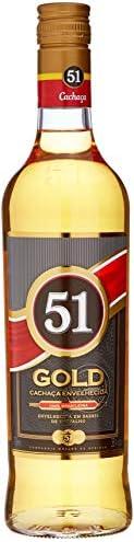 Cachaça Envelhecida 51 Gold, 700ml