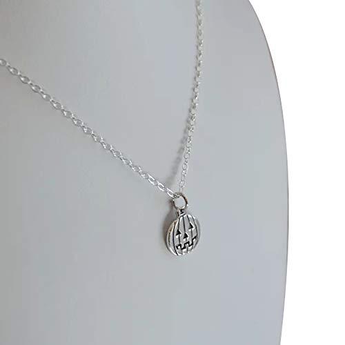 Brave669 Trendy Women Punk Jewelry Halloween Pumpkin Lantern Pendant Collarbone Necklace Silver