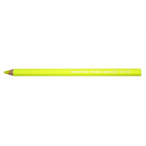 CREATIVE ART MATERIALS Caran D'ache Colorblock Pencil Fluo Yellow (491.104)