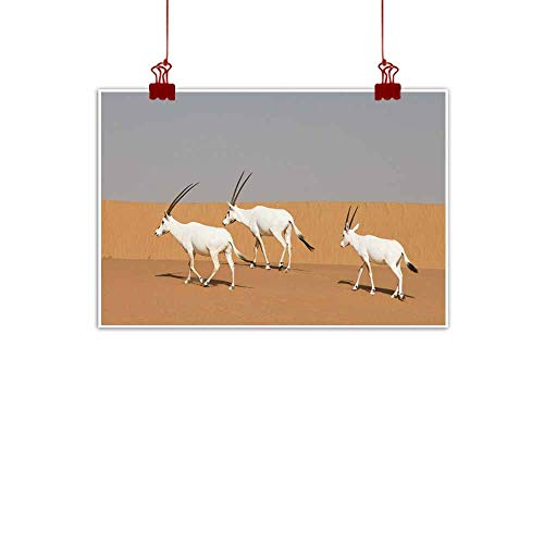 duommhome Simulation Oil Painting Arabian Oryx in a
