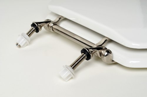 Comfort Seats C3B4E200BN Decorative Metal Hinges Elongated Closed Front with Cover by Comfort Seats (Image #2)