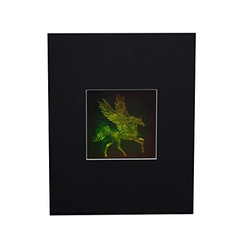 3D Pegasus 4'' Square with Plain Background Hologram Picture (MATTED), Collectible Photopolymer Type Film by HoloBrands