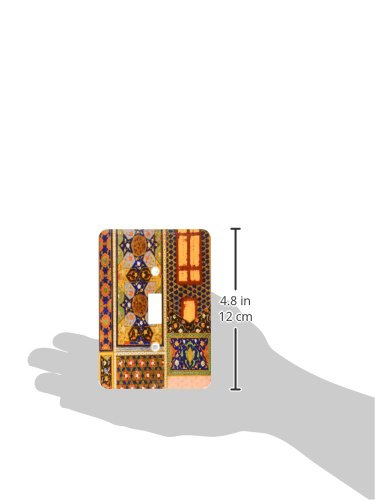 3dRose lsp_162526_1 Arabian Style Multicolor Abstract Pattern Colorful Turkish Moroccan Islamic Islam Muslim Vintage Art Light Switch Cover