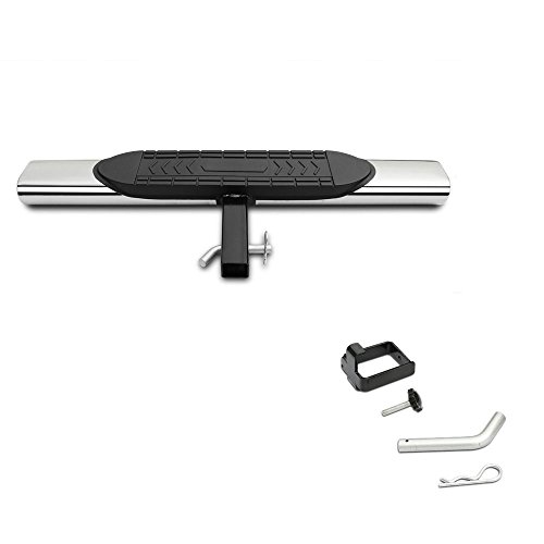 Gldifa 5″ Stainless Universal Hitch Step Rear Step Bumper Guard For vehicles with 2″ Receiver