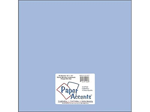 Accent Design Paper Accents 12x12ForgetMeNot Cdstk Stash Builder 12x12 65# Forget Me Not