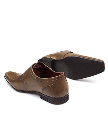 Red Tape Mersey 2Marron clair en cuir pour homme à boucle orteil confortable office formelle Chaussures