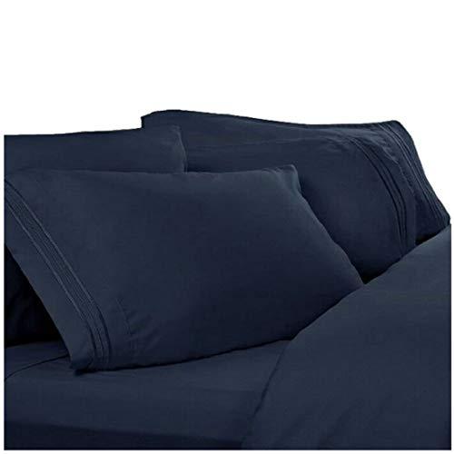 Split Cal King Sheets, Split California King Sheets: Navy Blue, 1800 Thread Count Egyptian Bed Sheets, Deep Pocket. Reg. $129.95. Sale $39.95. High Thread Count Softest Sheets,