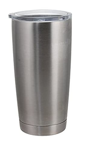 THE BOSS 20 oz. Vacuum Insulated Stainless Steel Travel Tumbler (Stainless) - Silver Travel Tumbler