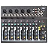 Seismic Audio - Slider7-7 Channel Mixer Console with USB Interface