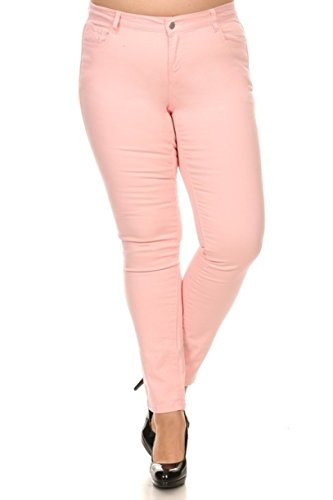 5c52f4b5ae0 Pink Plus Size Jeans - Wax Brand - High Waist - SALE - Fifth Degree