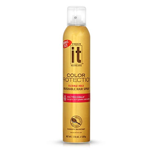 It Haircare Freeze Color Protection Flexible Hold Brushable Hair Spray 7.75 Oz (T-641)