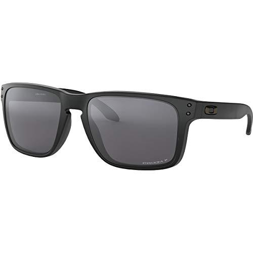 Oakley Men's OO9417 Holbrook XL Square Sunglasses, Matte Black/Prizm Black Polarized, 59 mm (Oakley Holbrook Black Polarized)