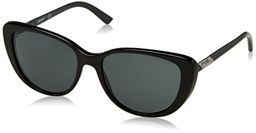 DKNY Women's Plastic Woman Cateye Sunglasses, Black, 56 mm by DKNY