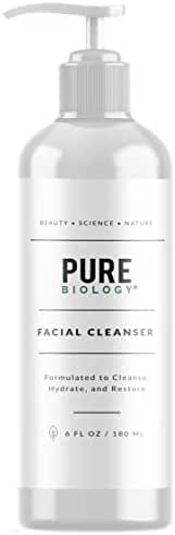 Premium Facial Cleanser with Hyaluronic Acid, Natural Essential Oils & Anti Aging Complex – Face Wash Firms, Tightens Wrinkles, Lightens Dark Circles, Dark Spots – Men & Women, All Skin Types