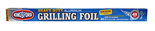 Heavy Duty Aluminum Foil Rolls - Kingsford Heavy Duty Aluminum Grilling Foil, Non-Stick, 45 Square Foot Roll, 18 Inches Wide, Best Quality for Grill & Kitchen, Non Stick for Easy Prep, Cooking, & Cleaning