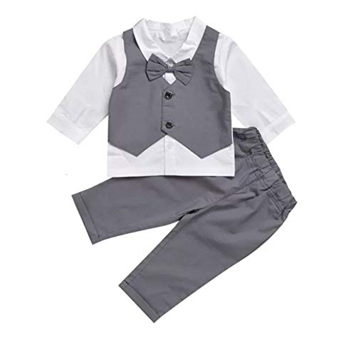 Gubabycci Infant and Toddler Baby Boy Gentleman 2pcs Long Sleeves Formal Party Wedding Suits Outfits by Gubabycci (Image #1)