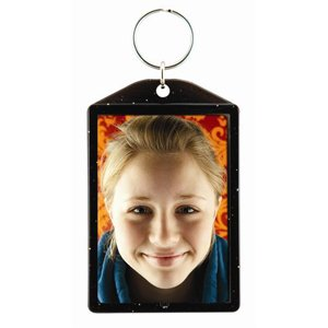 2'' x 3'' Black Sparkle Photo Keychains - Case of 144
