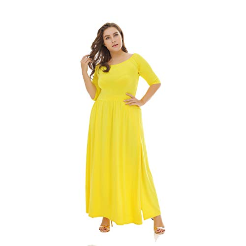 05486bd4b991 Women s Lang Party Cocktail Disco Plus Sexet Size Dress Bryst Lav Zip  Stropls Fashion Nederdel Yellow Spidser Owq857Hq