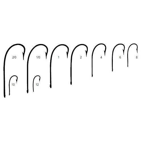 Mustad 3366 Classic Sproat Large Ring Hook (100-Pack), Bronze, Size 8