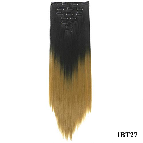 PrettyWit Clip in on Hair Extensions Full Head Ombre for sale  Delivered anywhere in USA