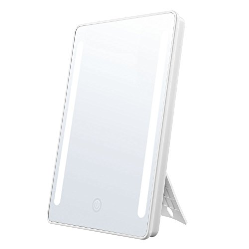 Jerrybox Makeup Mirror with Lights Lighted Vanity Mirror 180 Degree Rotation Portable Cosmetic