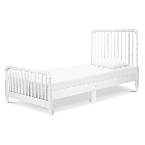 DaVinci Jenny Lind Twin Bed with Wood Spindle Posts, Mattress Support Slats Included, White