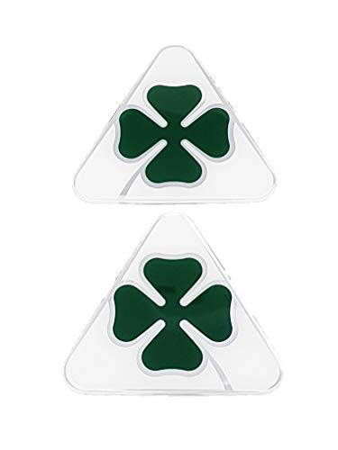 Alfa Romeo 21841 Official 3D Stickers Green Clover Right + Left