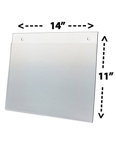 Marketing Holders Lot of 20 - 14'' X 11'' Flush Top Wall Mount Sign Holders (Landscape) by Marketing Holders