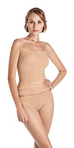 HANRO Women's Ultralight Spaghetti Camisole, Skin, Large