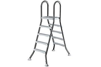 Escalera hochbecken de acero inoxidable 2 x 4 peldaños con ...