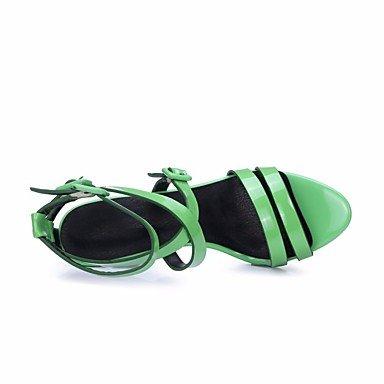 LvYuan-ggx Damen High Heels Pumps Leder Sommer Normal Pumps Stöckelabsatz Grün 10 - 12 cm