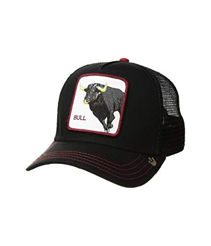 Goorin Brothers Animal Farm Snap Back Trucker Hat Black Bull Honky One Size